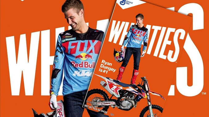 Ryan Dungey becomes first Motocross Rider on Wheaties box