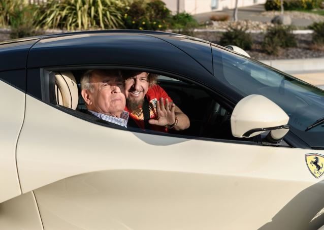 Sammy Hagar Takes Dan Rather For A Ride In His La Ferrari