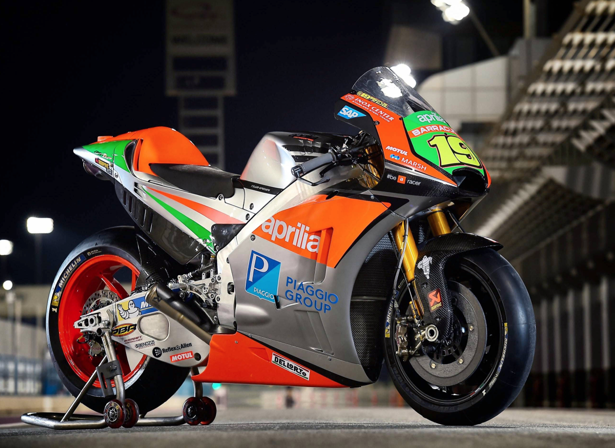 Aprilia Shows Off Its All New MotoGP Bike
