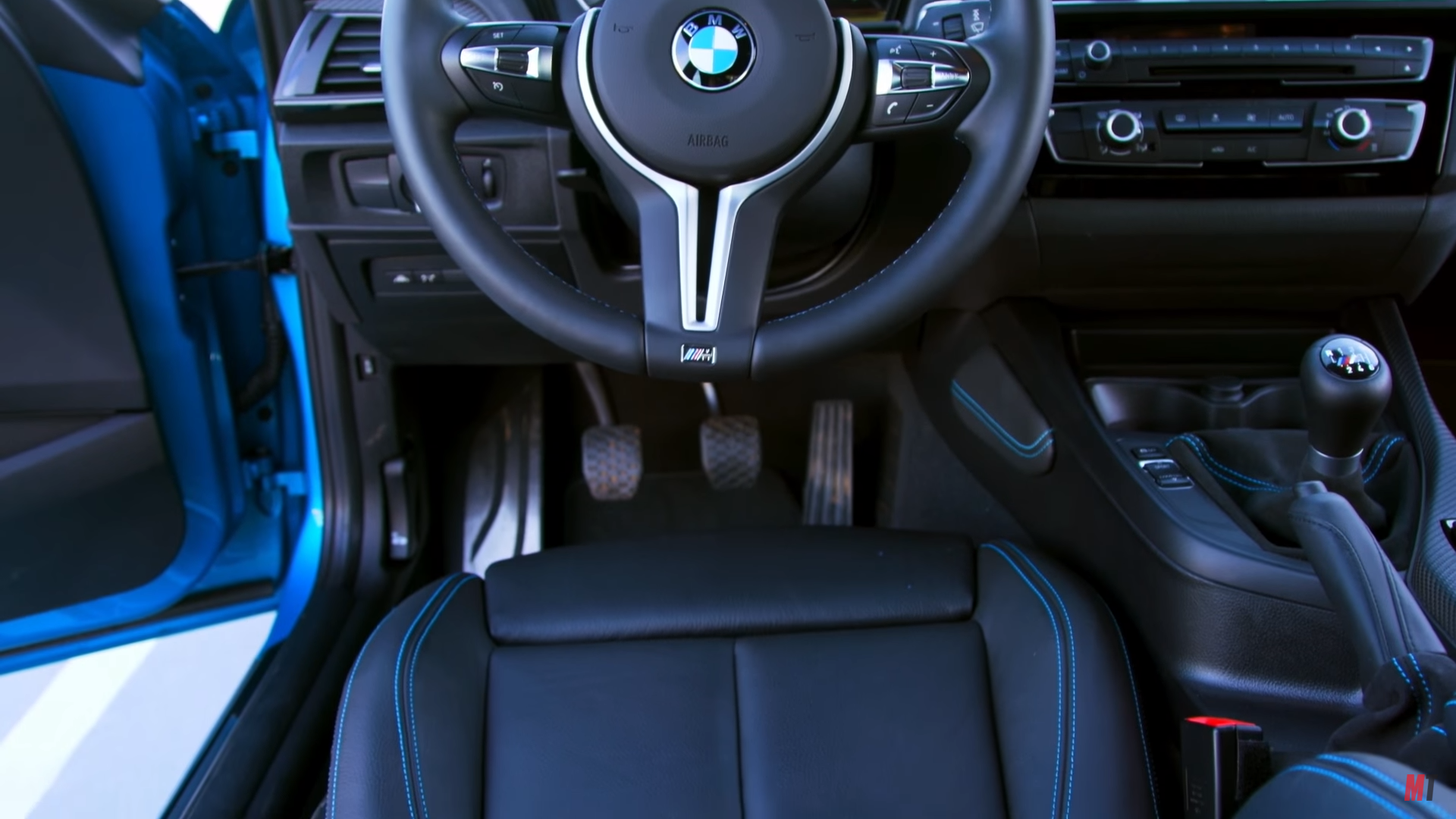 Still can't really tell how crooked the seat is Photo: Motor Trend YouTube