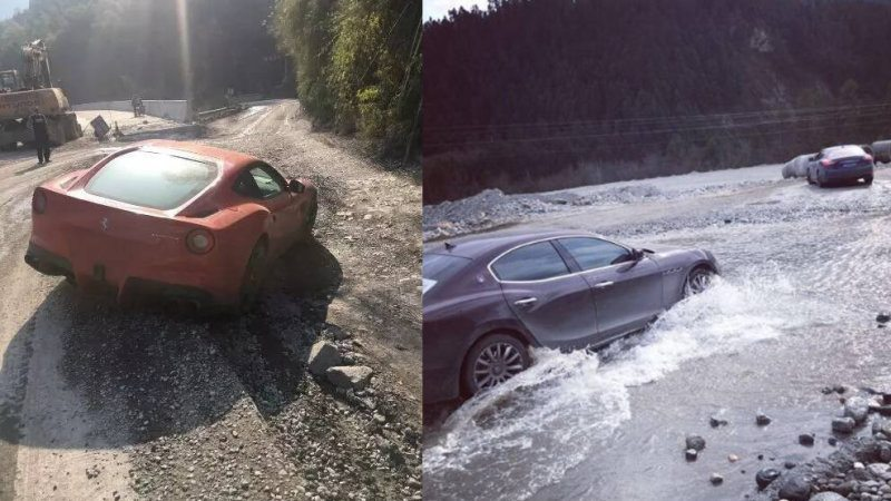 Chinese Businessman Takes Italian Supercars for an Offroad ...