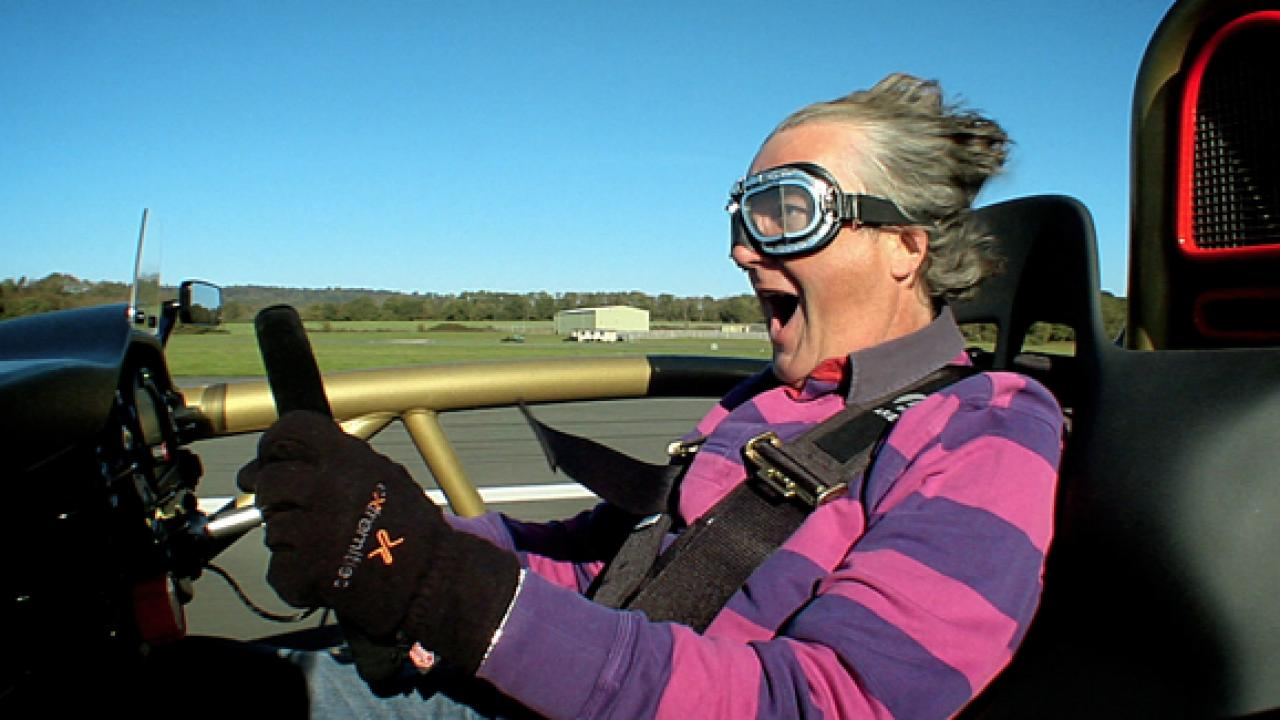 James May Driving the Atom V8 PHOTO: Top Gear