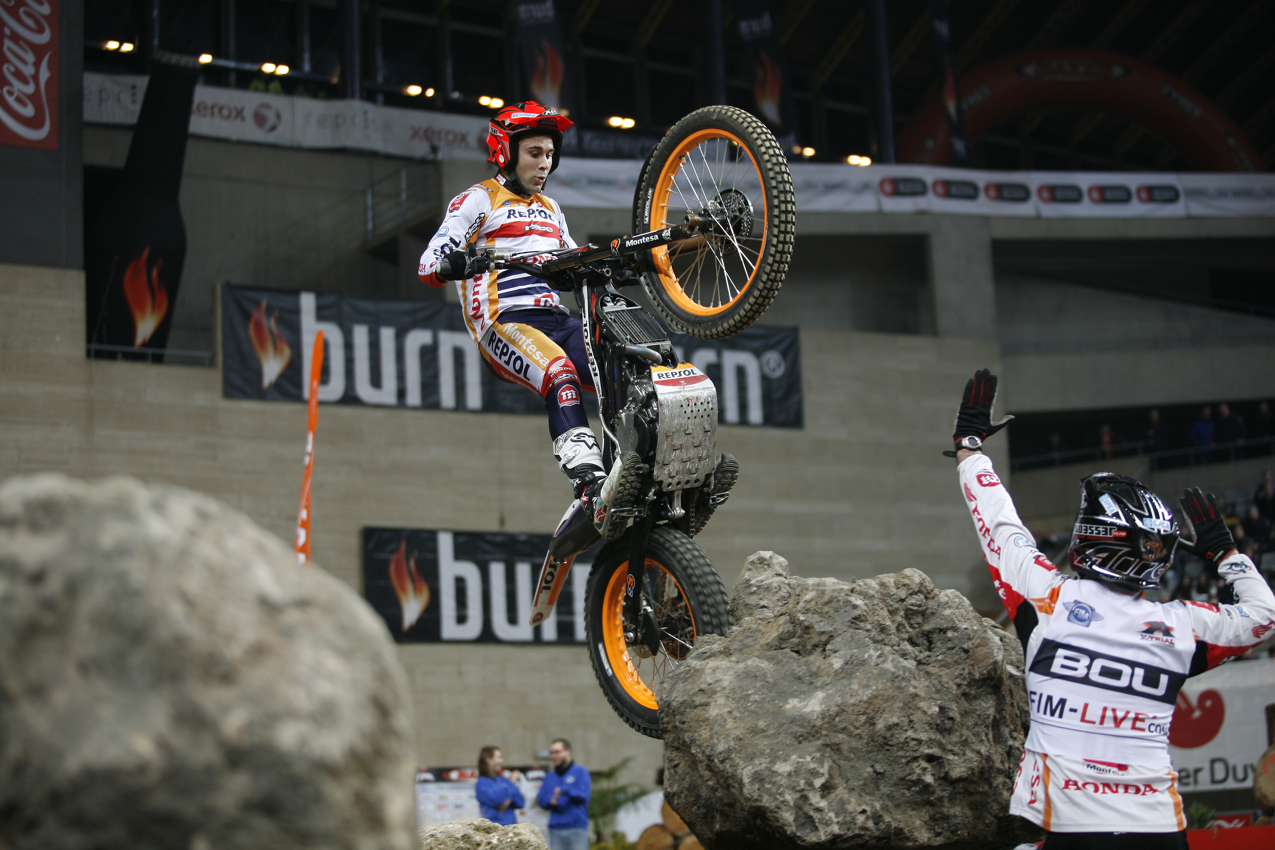 Toni Bou competing in 2015 X-Trial PHOTO: hondaracingcorporation