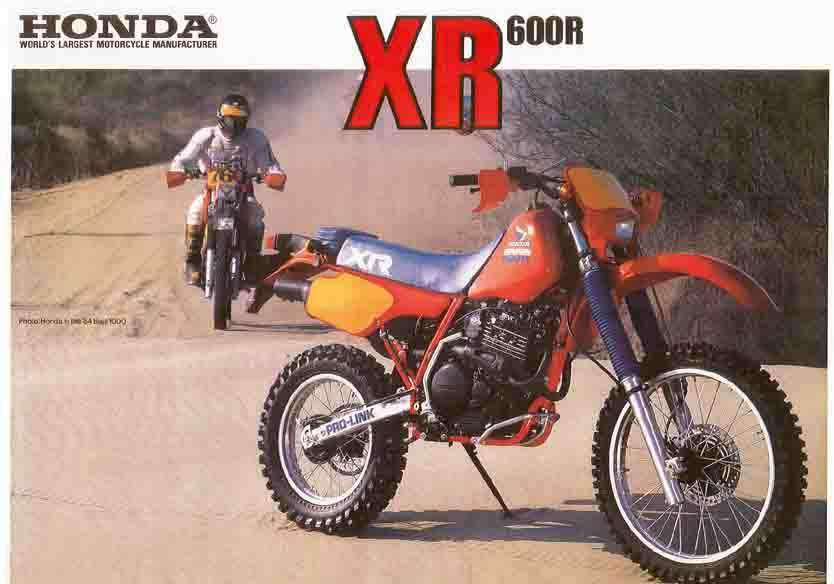 1985 Honda XR600 4-stroke Photo: motorcyclespecs