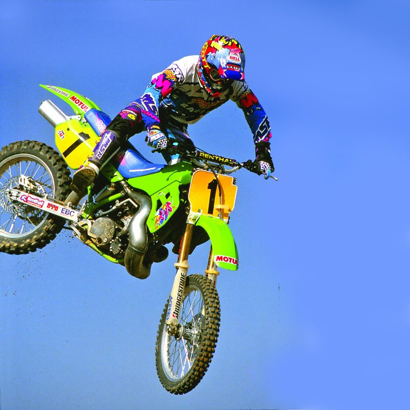 Mike LaRocco on his KX500 in 1993 Photo: dirtbikemagazine