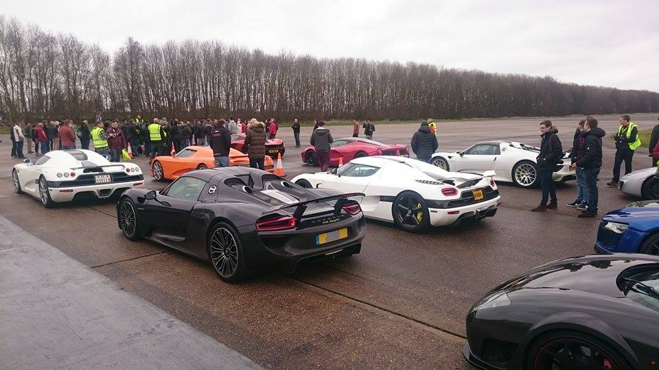 Quite the list of super cars in the staging area Photo: autoclassmagazine
