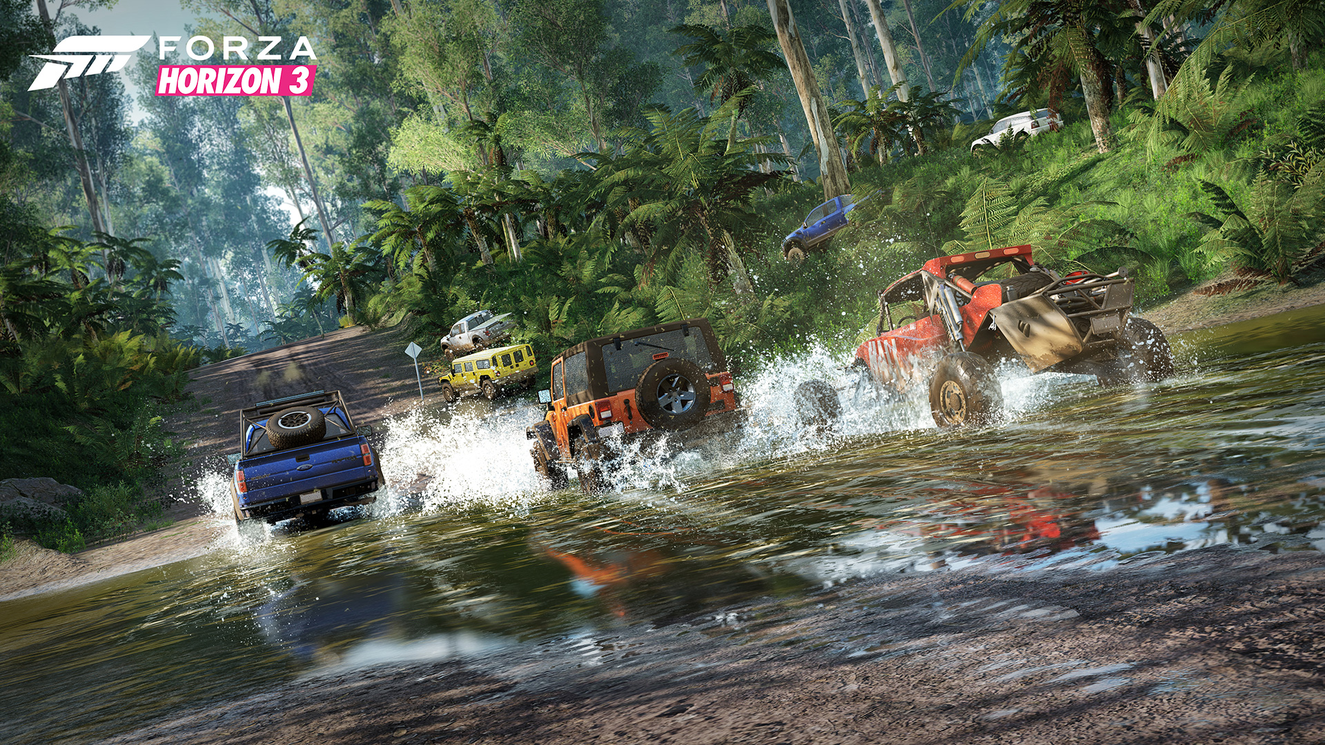 The water is supposed to make the vehicle react how it would in real life. Photo: forzamotorsport