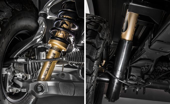 2017 Raptor suspension components Photo: caranddriver