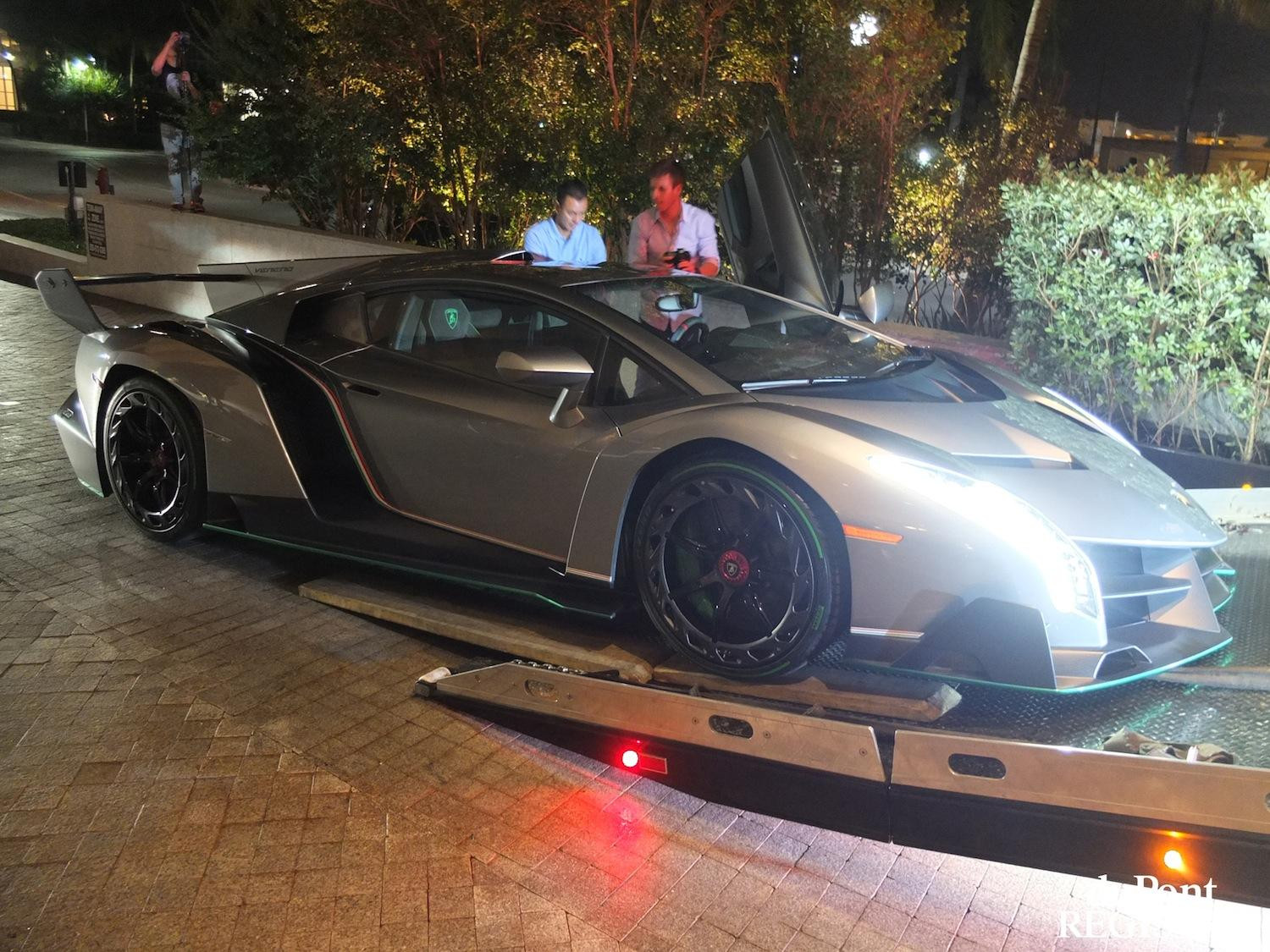 Singh's Lamborghini Veneno being delivered. Photo: digitaltrends
