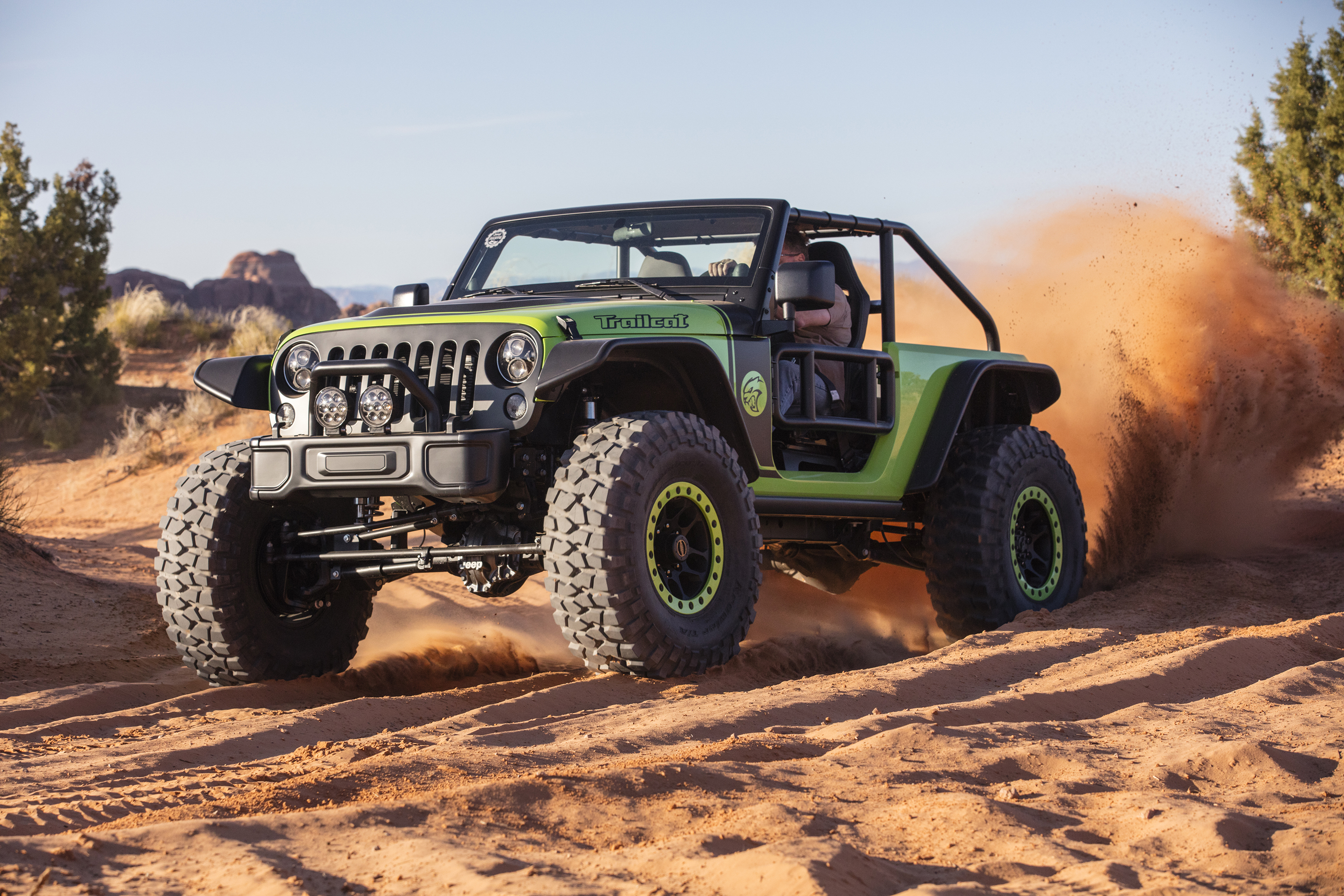 Jeep Trailcat Concept with Hellcat engine Photo: wheelsage