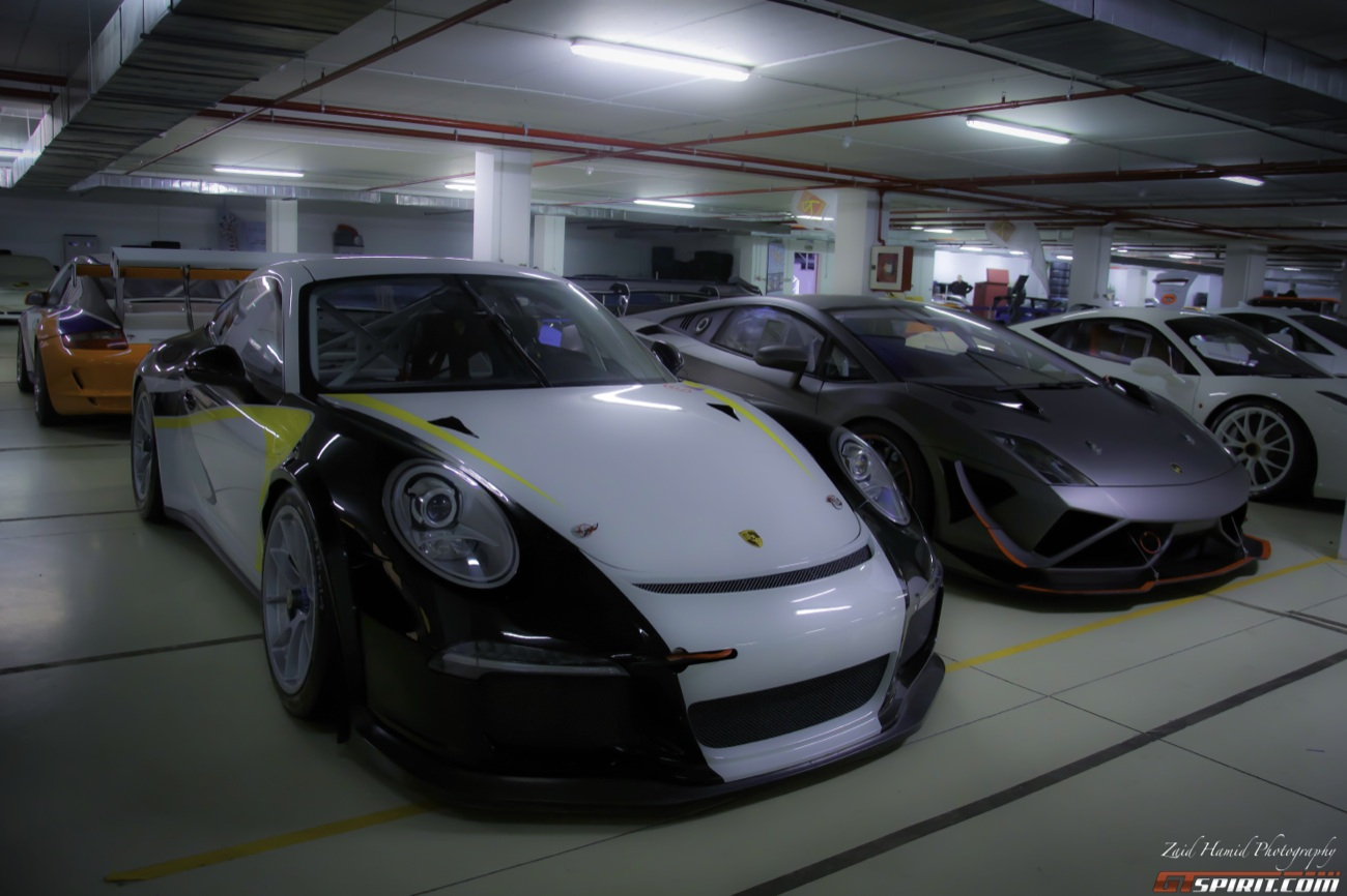 Inside the garage at the Ascari race resort Photo: gtspirit