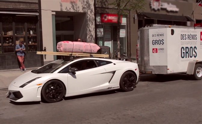 Surprisingly there are more Lambo's out there towing trailers! Photo: carcrushing