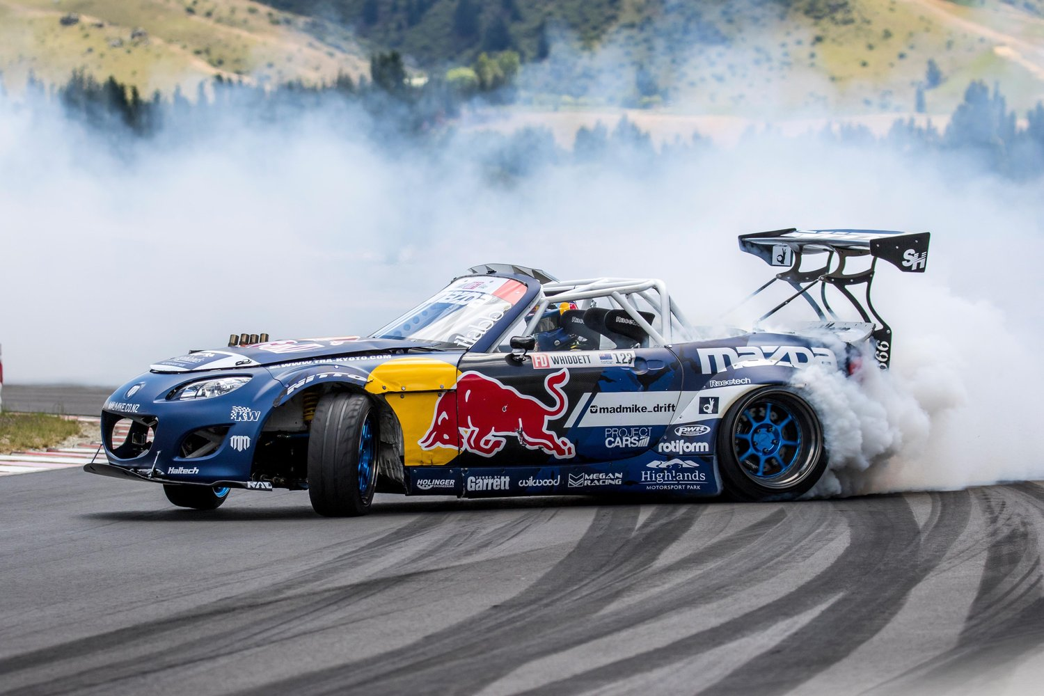 Whiddet and his RADBUL 1200 hp Miata  Photo: redbull