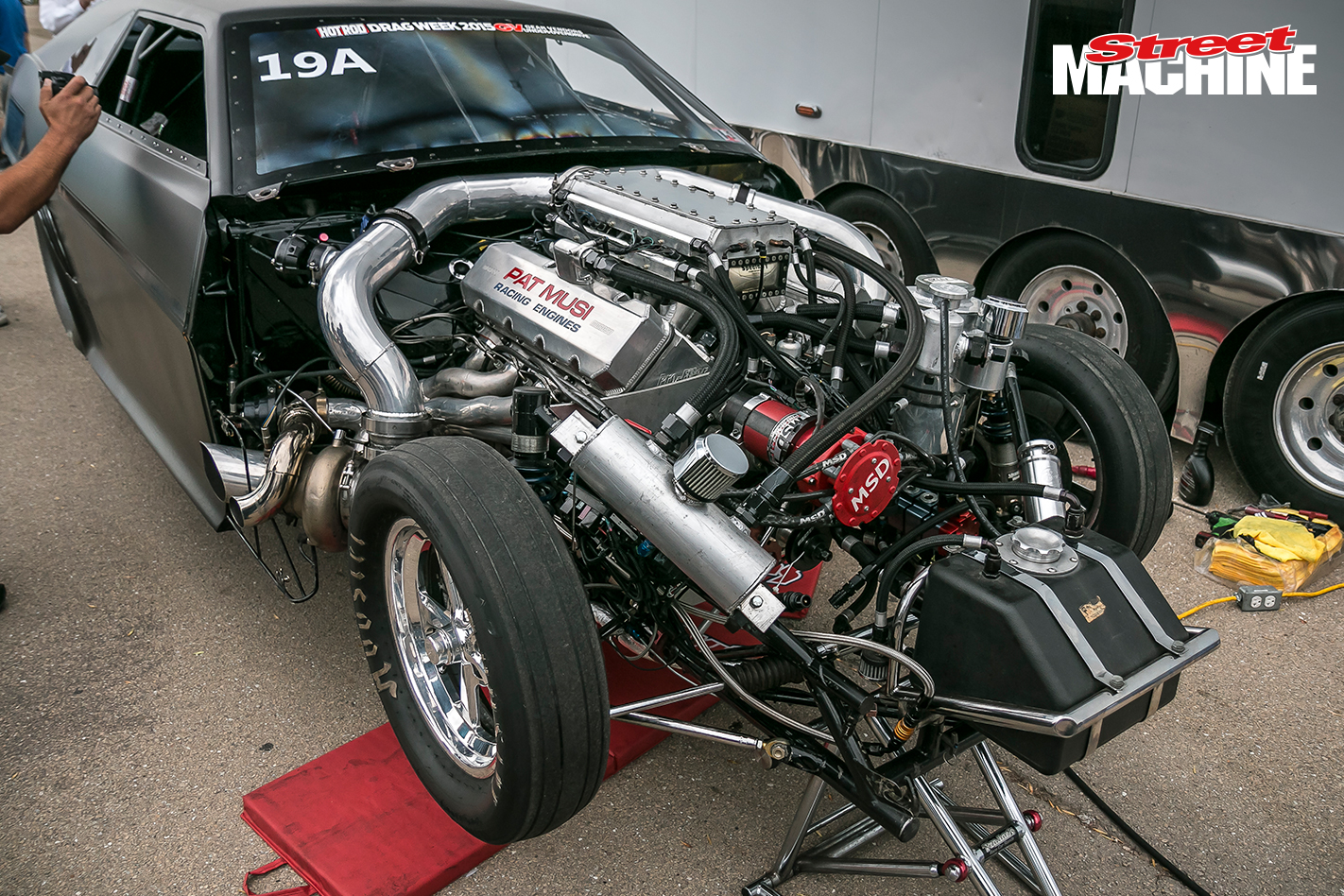 Under the hood of Jeff Lutz's Mad Max ProMod Photo: streetmachine