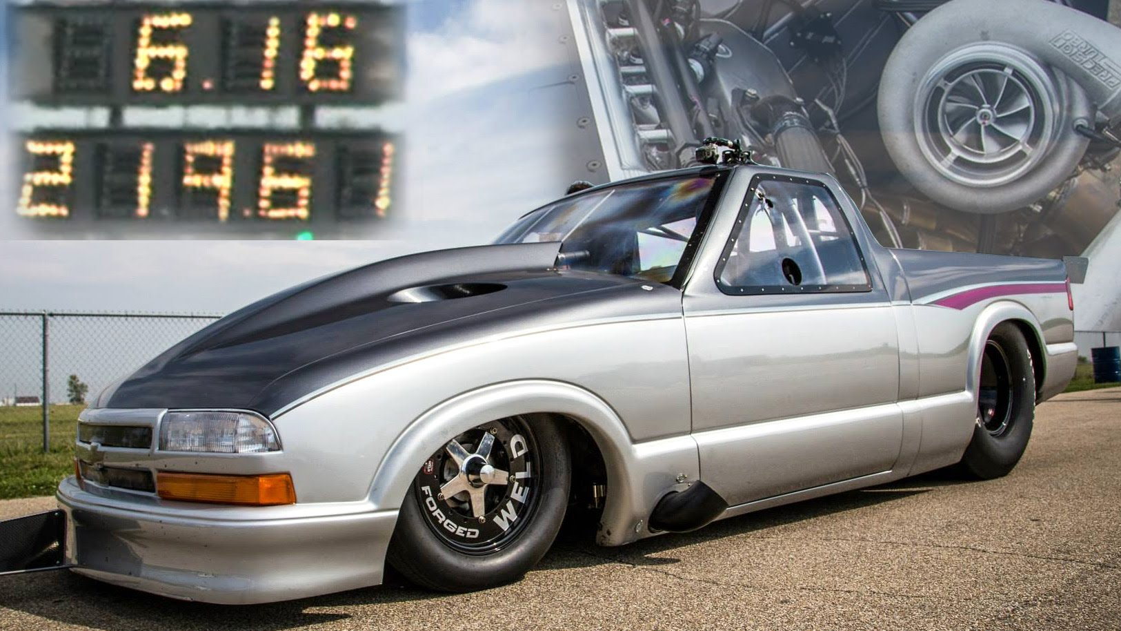 Larry Larson's Chevy S-10 that won the 2014 Drag Week Photo: youtube