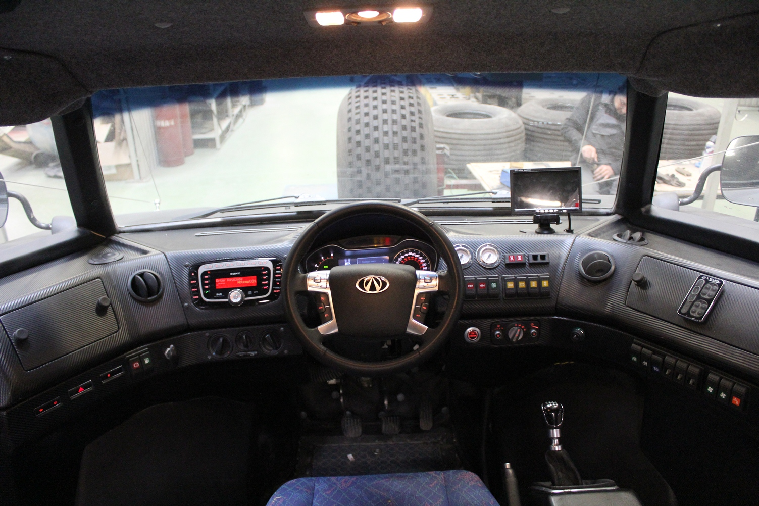 Interior of the Viking with the centered driving position. Photo: carscoops