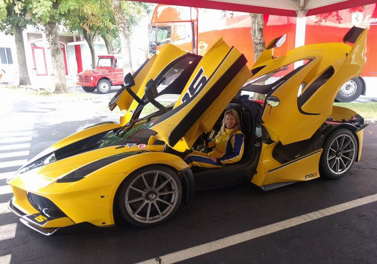 Christine Sloss in her FXX K Photo: carscoops