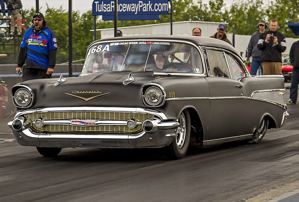 The Evil Twin 1957 Chevy Lutz used to win Drag Week 2014 Photo: dragzine