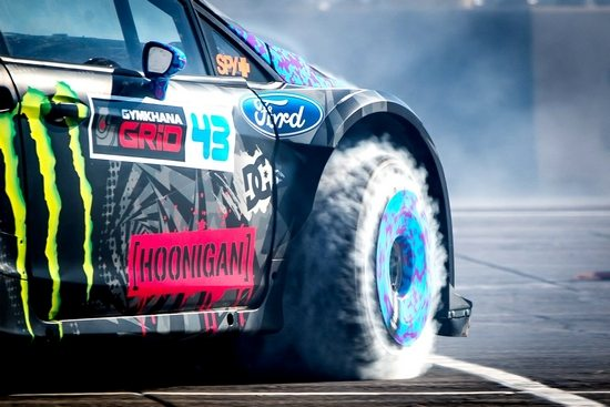 Epic burnout shot of the Gymkhana 6 car Photo: nocarnofun
