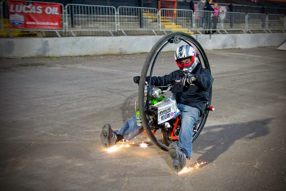 This isn't Kevin Scott, or the War Horse, but it does give you an idea of what it takes to stop. Photo: deathbymonowheel