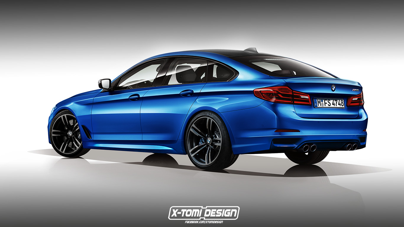 Rendering for 2017 M5 GT Photo: xtomi