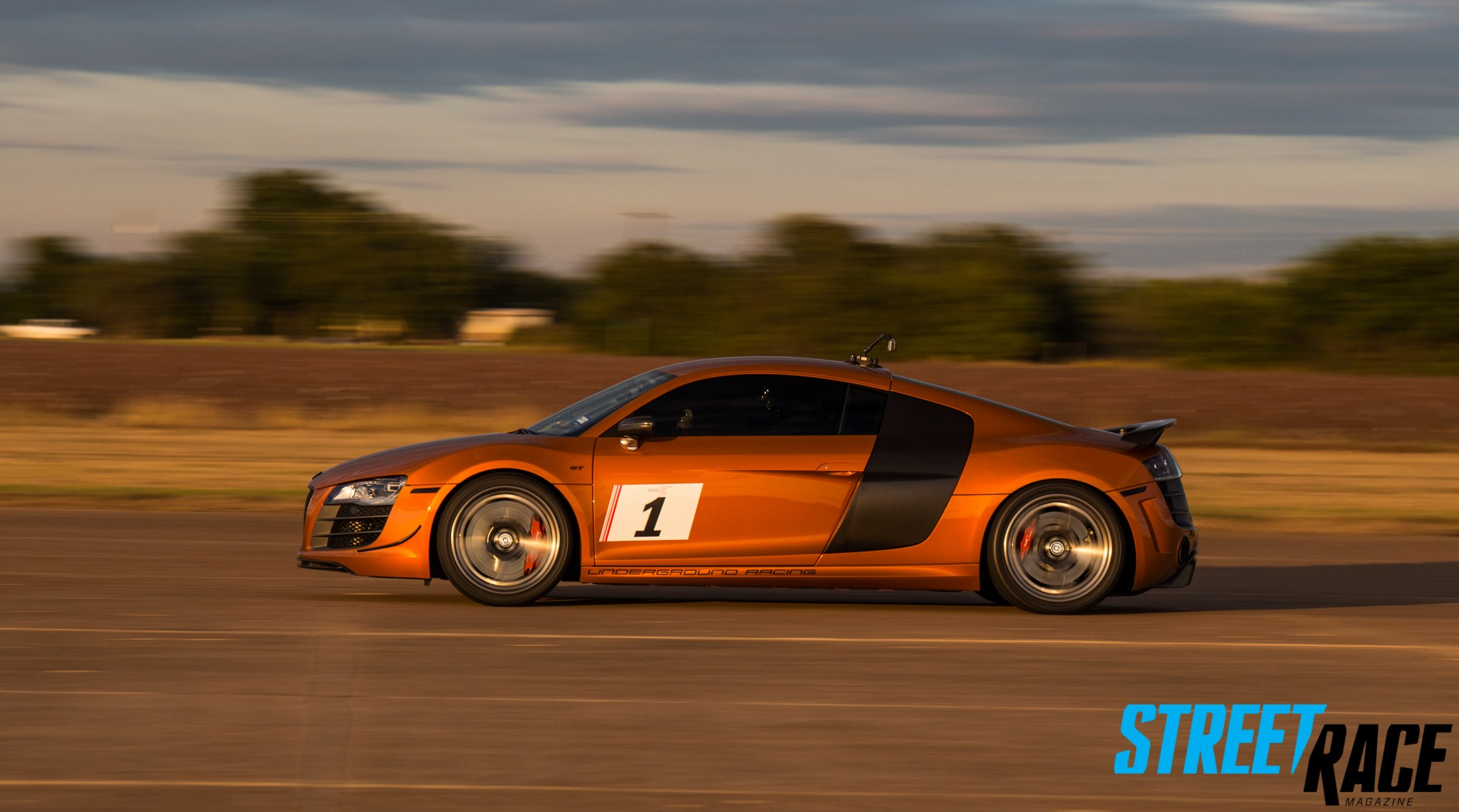 The UGR Audi R8 that set the highest trap speed of the day at 220mph Photo: streetracemag