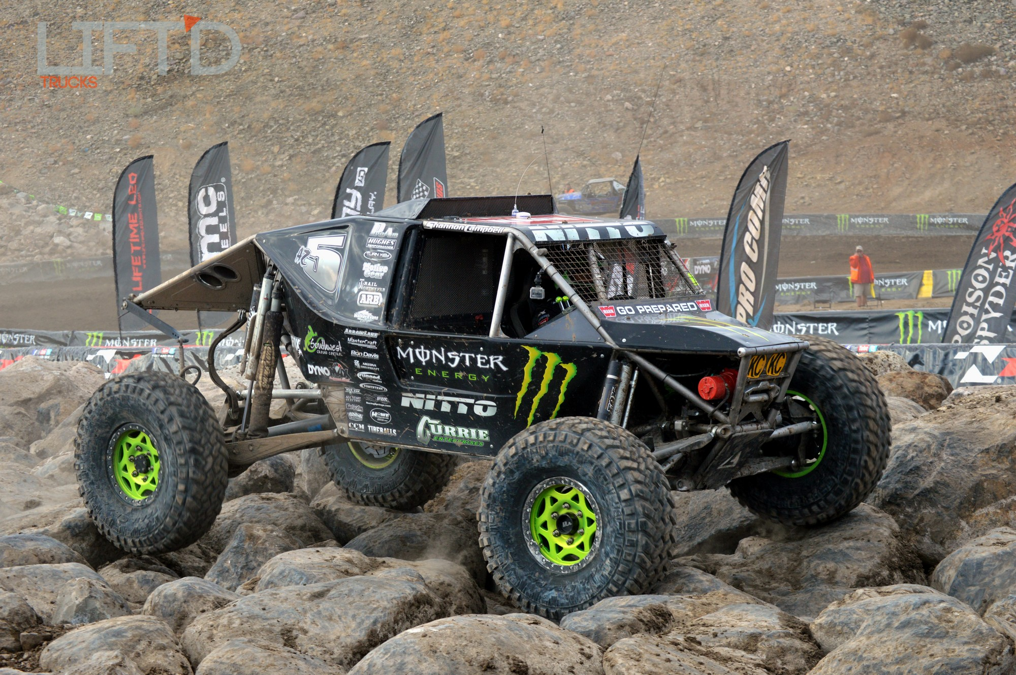 Shannon Campbell in his custom Monster Energy Machine Photo:liftdtrucks