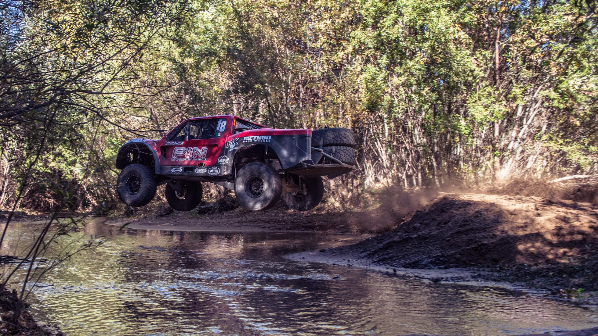 Trophy Truck across the finish line Photo: topgear