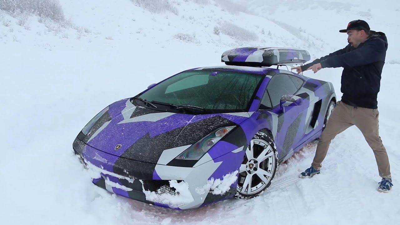 This Is How You Celebrate A Snow Day With A Lamborghini