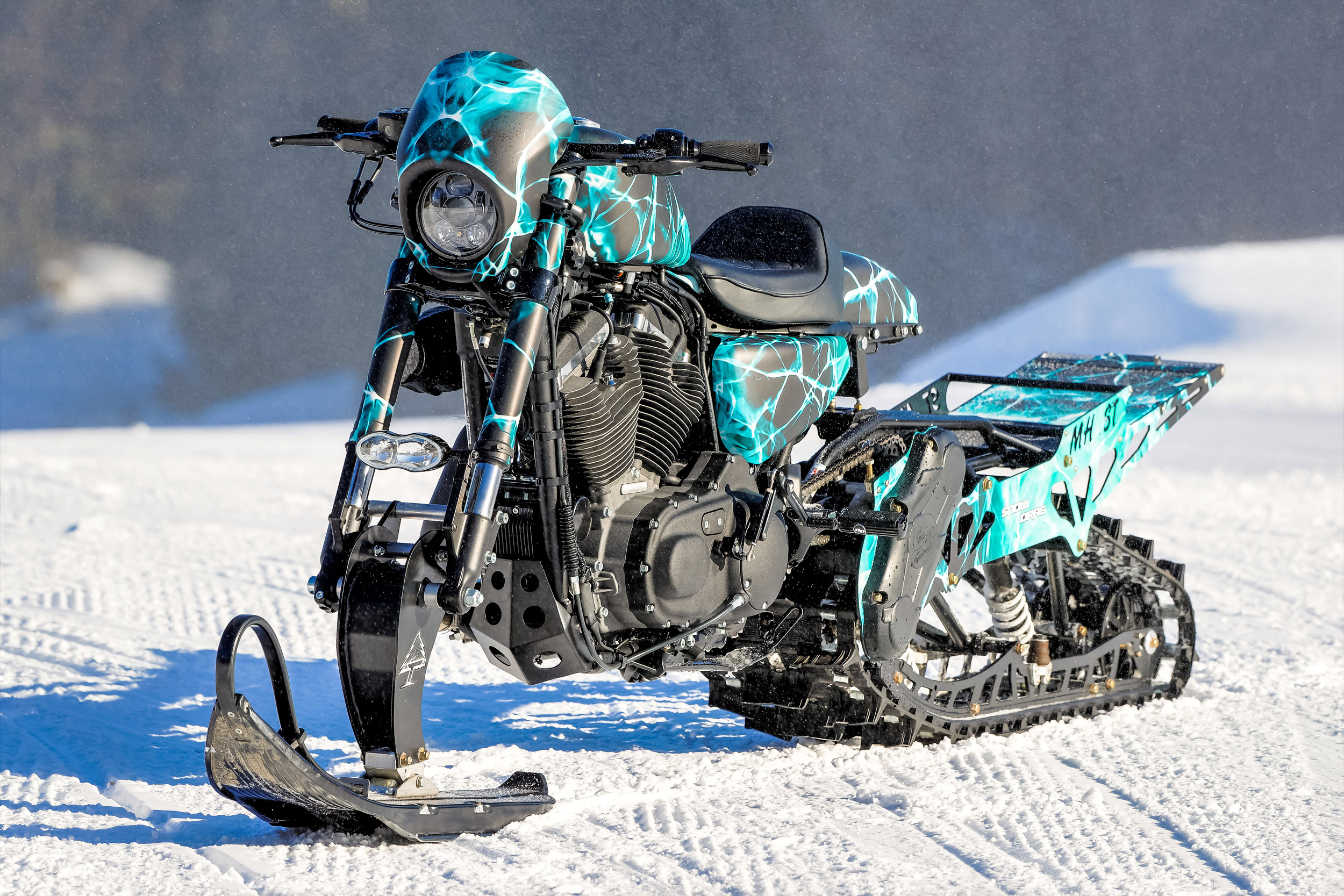 Harley Davidson Snow Drag Timbersled Converted Sportster