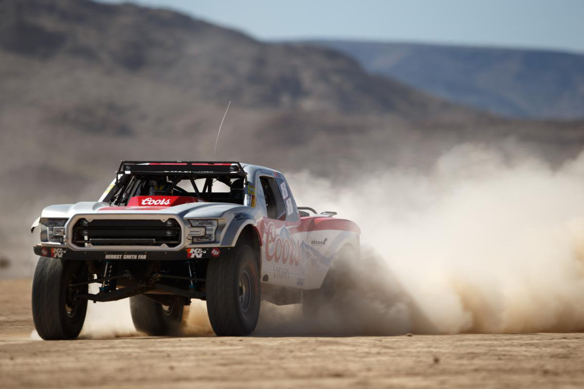 Brett Sourapas and his new  Trophy Truck Photo: twitter