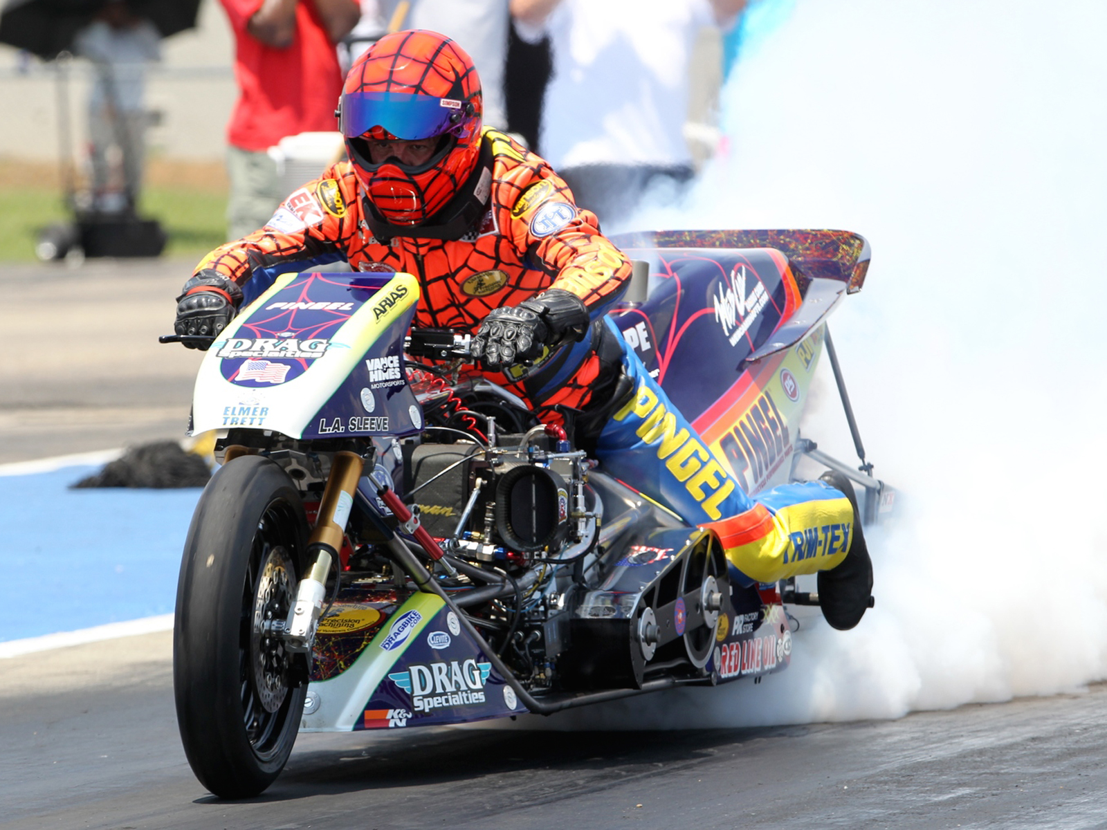 riding a 1500hp top fuel drag bike is 58 seconds of pure