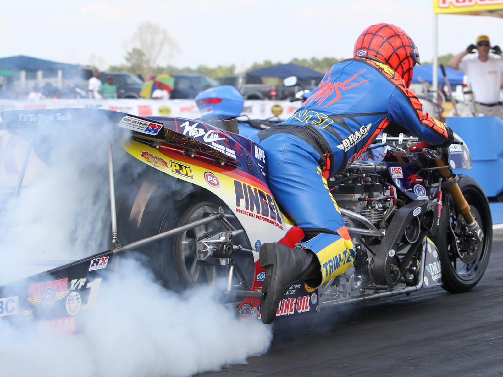 Riding a 1500hp Top Fuel Drag Bike is 5 8 Seconds of Pure Insanity