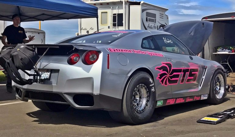 Watch This Nissan GTR Max Out a Dyno at Over 2,700WHP and Then Run a 6.96 1/4 mile