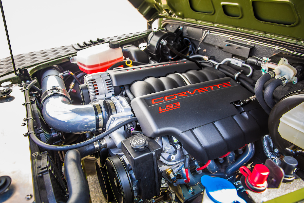 This corvette powered land rover defender 130 pickup is what whatever you do decide to have built make sure to opt for the ls3 engine swap because having a corvette engine in land rover is about as cool as it gets publicscrutiny Gallery