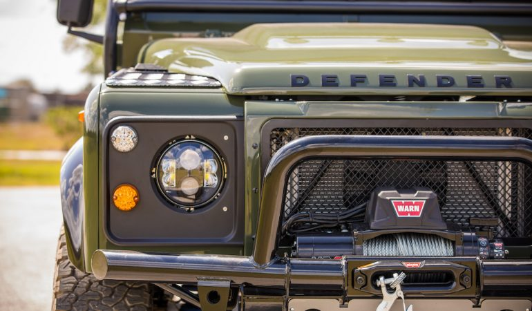 This Corvette Powered Land Rover Defender 130 Pickup is What