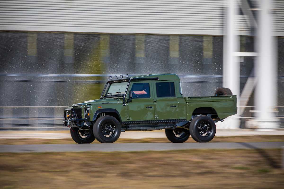This Corvette Powered Land Rover Defender 130 Pickup Is