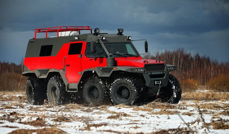 The Shaman ATV is an 8WD Offroad Limousine That Will Take You Anywhere by Land or by Water