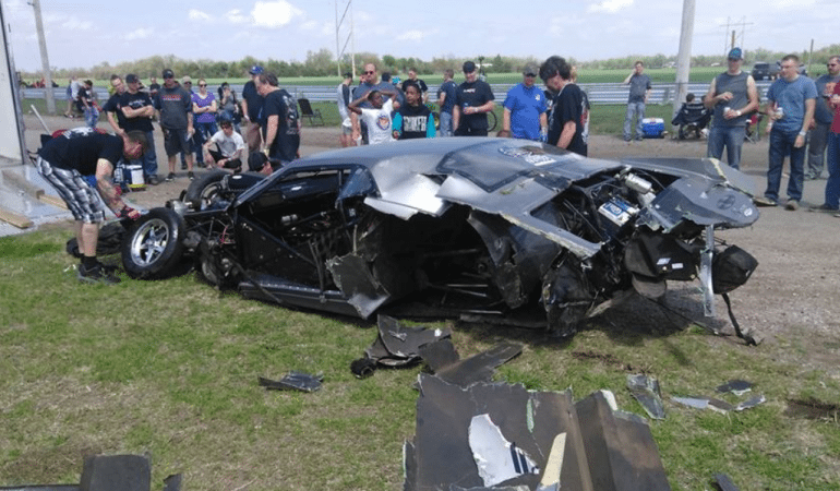 You Won't Believe the Driver Walked Away from this Brutal Drag Car Wreck