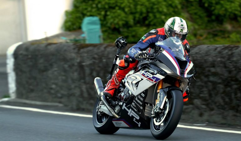 Peter Hickman Puts The BMW HP4 RACE Through Its Paces At The Isle of Man TT