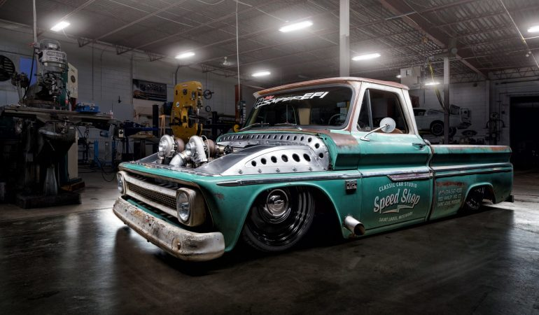 "Meet ""Tiffany"": The Baddest Twin Turbo C10 Shop Truck You'll Ever See"