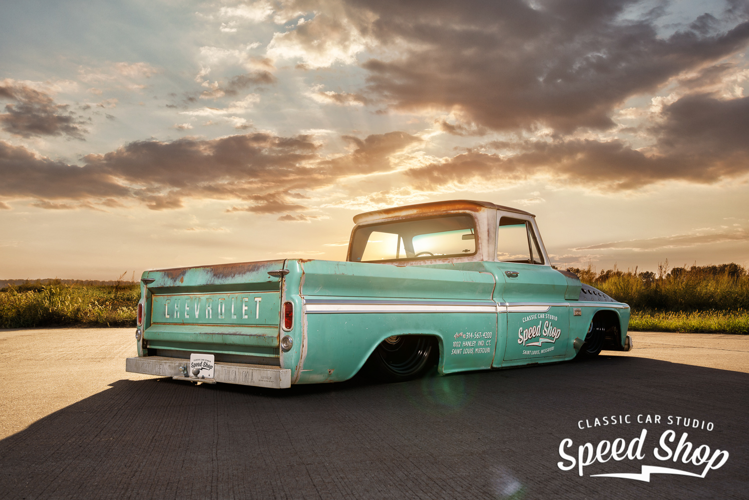 Meet Quot Tiffany Quot The Baddest Twin Turbo C10 Shop Truck You