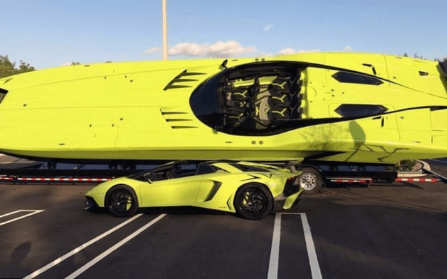 Take Your Baller Status to the Next Level With This Matching Aventador SV and Extreme Powerboat