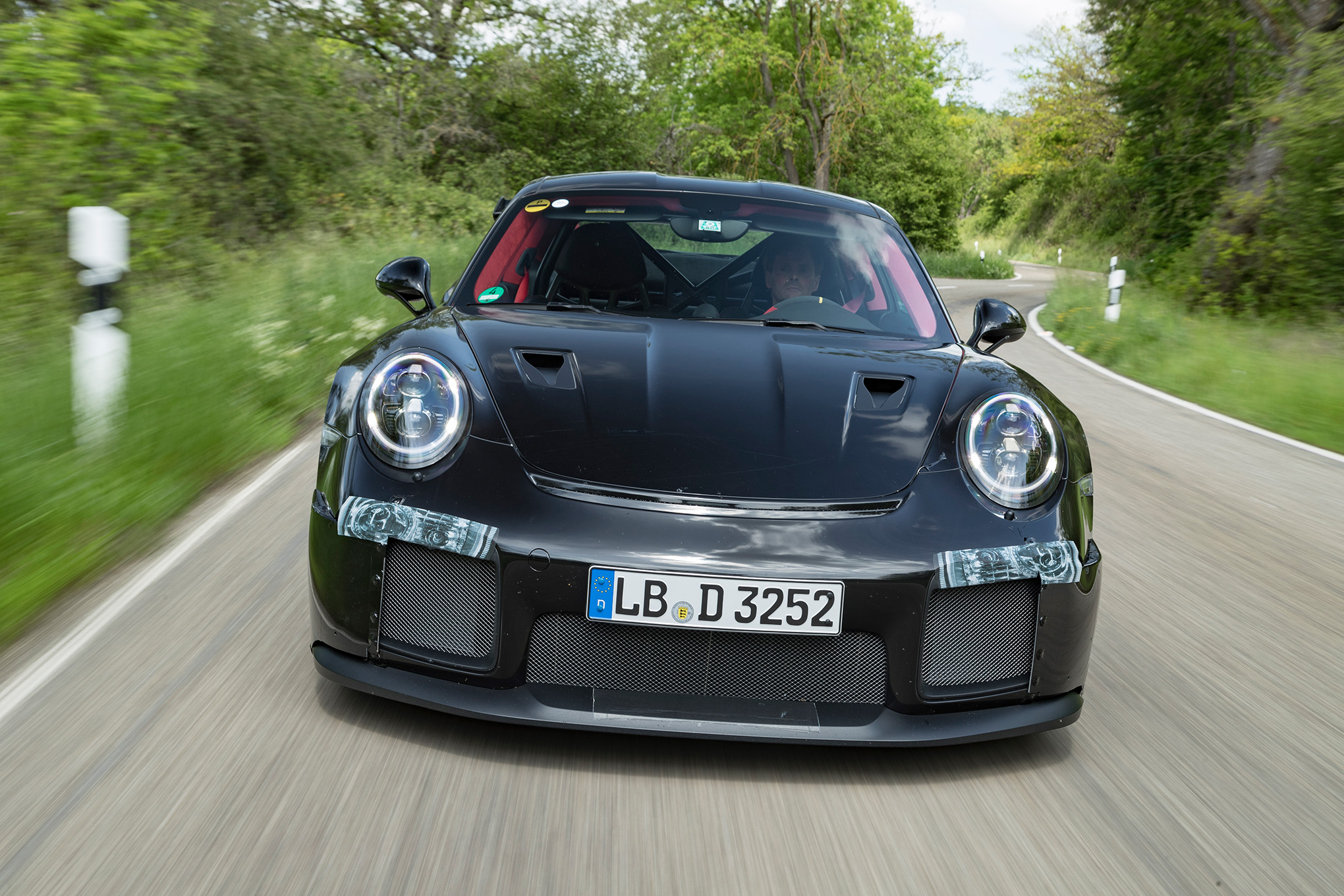 porsche 911 gt2 rs gt3 and gt3 rs 2018 porsche gt3 rs and gt2 rs spied automobile magazine. Black Bedroom Furniture Sets. Home Design Ideas