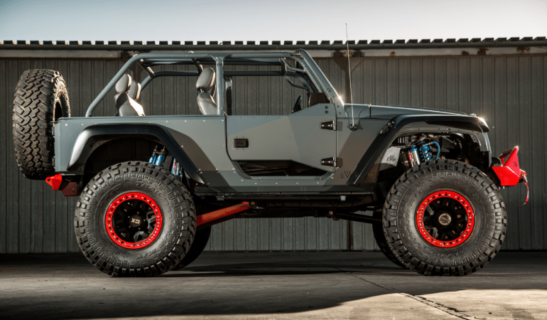 "This is the ""UAE1,"" a Heavily Modified Jeep Wrangler Built For a King,  or Sheikh in This Case"