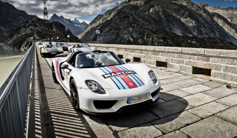 19 Porsche 918's Tackle the Most Famous Alpine Passes on an Epic Road Trip Dreams Are Made Of